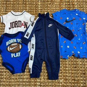Lot of 4: Nike baby boys outfits newborn 3 months